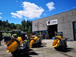 hjullaster og traktor